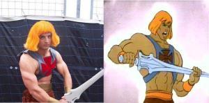 Pela força de grayskull!!!!Esqueleto deve estar tremendo ao ver dois He-Man!
