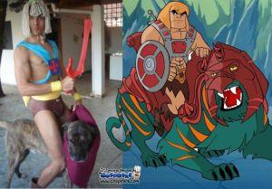 O cachorro me pareceu fiel ao cosplay '-'